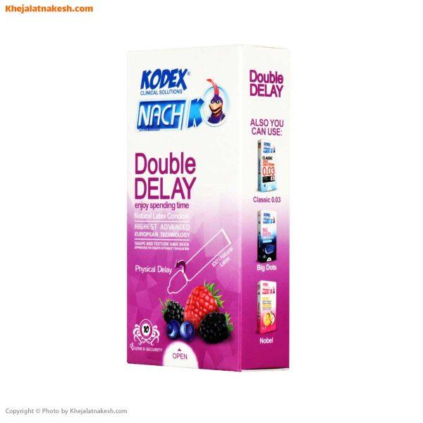 کاندوم تاخیری دوبل ناچ کدکس مدل Double Delay بسته 10عدد