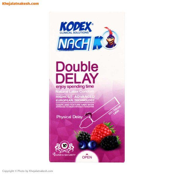کاندوم تاخیری دوبل ناچ کدکس مدل Double Delay بسته 10تایی