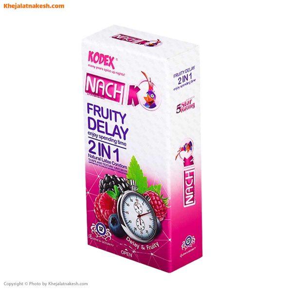 کاندوم ناچ کدکس مدل Fruity delay 2in1 بسته 12 تایی
