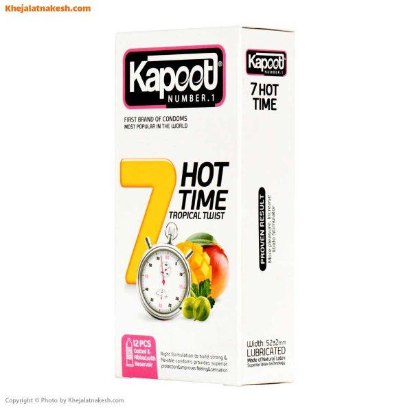 کاندوم-کاپوت-مدل-7Hot-Time-بسته-12-تایی