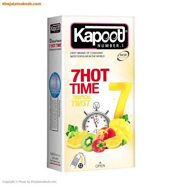 کاندوم-کاپوت-مدل-7Hot-Time-بسته-12-عددی
