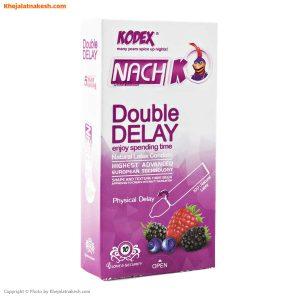 کاندوم تاخیری دوبل ناچ کدکس مدل Double Delay بسته 10عددی