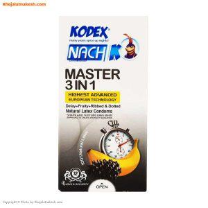کاندوم مستر تاخیری مدل کلاسیک Master 3 in 1 بسته ۱۲ عددی