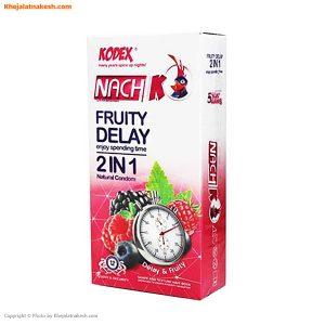 کاندوم ناچ کدکس مدل Fruity delay 2in1 بسته 12 عددی