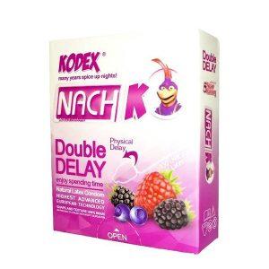 کاندوم دبل تاخیری ناچ کدکس مدل Double delay بسته 3 عددی